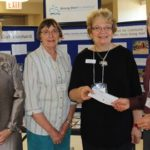 Ruth Mills, Strong Start Program Coordinator for Brant-Haldimand-Norfolk (third from left) accepts a $4,000 cheque from Retired Teachers of Ontario District 12 Norfolk outgoing president Margaret Payne (left), and Project Service To Others Committee Members Hazel Andrews (second from left) and Peter Scovil (right) Tuesday at the Vittoria and Area Community Centre. The funds will be used to support Strong Start programming in Norfolk County. October 14, 2016